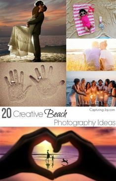 20 Creative Beach Photography Ideas for fun pictures on Capturing-Joy.com