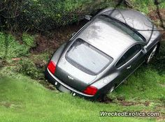 Bentley Continental GT crashed in Beverly Hills, California