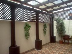 Pergola Patio Pergola Patio Terrasse Patio an Haus angeschlossen Patio bedeckt diy modern screen wall Black Pergola, Small Pergola, Deck With Pergola, Outdoor Pergola, Covered Pergola, Backyard Pergola, Patio Roof, Diy Patio, Pergola Plans