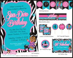 Spa Party Printables from P.J. Tuttles