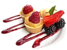 YUM...Lemon Tart with Raspberries at Christmas Hills Raspberry Farm Cafe in Tasmania, Australia - more info on our blog!