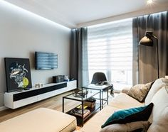 mieszkanie prywatne 60m2 - Rezydencja Daglezja - Toruń - Średni salon, styl nowoczesny - zdjęcie od studio 1111