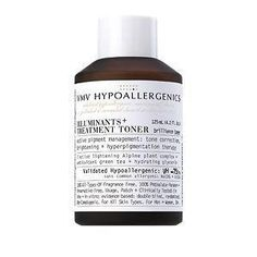 works wonders. Seven ingredients to inhibit melanin producing cells! For melasma and hyperpigmentation sun spots.   Alcohol, Aqua/Water/Eau, Glycerin, Malva Sylvestris (Mallow) Extract, Mentha Piperita (Peppermint) Leaf Extract, Primula Veris Extract, Alchemilla Vulgaris Extract, Veronica Officinalis Extract, Melissa Officinalis Leaf Extract, Achillea Millefolium Extract, Citric Acid, Butylene Glycol, Camellia Sinensis Leaf Extract