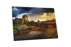 Eilean Donan Castle In Uk Gallery Wrapped Canvas Wall Art