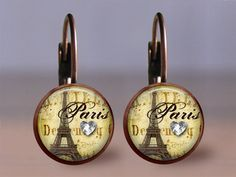 Earrings Jewelry  12mm Paris 2  Choice of by MaDGreenCreations, $8.95