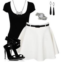 Like this black and white combination