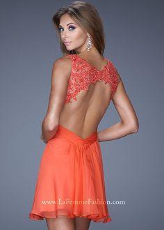 La Femme 20631 Jeweled Lace Dress