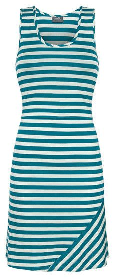 Striped Nursing Tank Dress {Teal & White} #Kids
