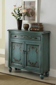 Dearington Drawer Cabinet - Teal by Furniture Deals For Every Style on @HauteLook