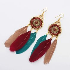 Cheap earrings ethnic, Buy Quality bohemia style directly from China ethnic drop earrings Suppliers: Bohemia Style Women Earrings Ethnic Feathers Dangle Drop Jewelry Eardrop Lady Hot Sale Cloth Accessories American Spirit, Native American, Bohemia Style, Women's Earrings, Dangles, Jewelry Accessories, Boho, Lady, Stuff To Buy