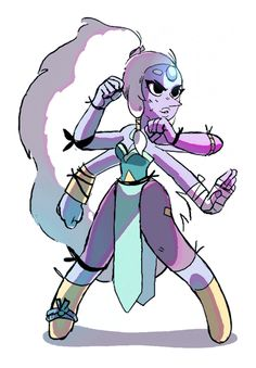 TOONIMATED DRAWS | Steven Universe Fighters! Added Opal to the mix...