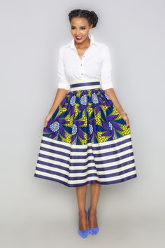 Esi Millie Striped Skirt - Kaela Kay ~Latest African Fashion, African women dresses, African Prints, African clothing jackets, skirts, short dresses, African men's fashion, children's fashion, African bags, African shoes ~DK