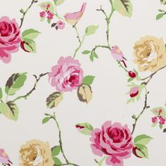 Fun patterned fabric for pillows or curtains (if it's a girl) Agatha Summer by Clarke  Clarke from the Rosetta Collection