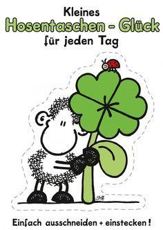 Hosentaschen-Glück für jeden Tag   sheepworld   Echte Postkarten online…