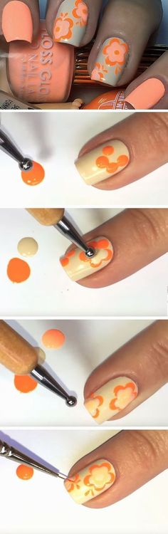 Peaches n Cream | Easy Spring Nail Designs for Short Nails 2016 #DIYNailDesigns