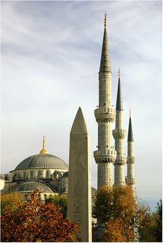 obelisk and minarets by AYDIN ....Sultanahmet ,Istanbul,TURKEY