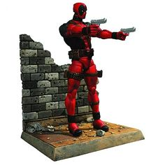 A Diamond Select Release! Featuring everyone's favorite loud-mouthed, smart-aleck, super-assassin/mercenary, our Marvel Select line expands to include one of the most irreverent characters in comic history - Deadpool! Sculpted by Gabriel Marquez, Figurine Deadpool, Marvel Diamond Select, Deadpool Action Figure, Marvel Gifts, Comic Book Heroes, Comic Books, Marvel Legends, Comic Character, Wolverine