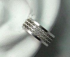 POST Conch Pierced Cartilage Earring Sterling Silver by earcuffs