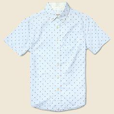 Double Bar Dobby Shirt - Light Blue