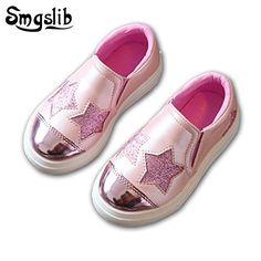d3dd0e761 Smgslib los niños Zapatos Niñas plata plana casuales Rosa niños casual  Zapatos niño Niñas Zapatos verano moda entrenadores zapatillas de chicos
