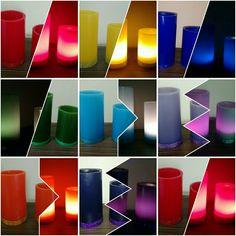 Conjunto de Luminárias Redondas para decoração de salas de Terapia das Cores/7 Chacras, para Clínicas de massagem, studio de dança e outros, acompanhada de refil aromatizados com óleos essenciais terapêuticos. www.magiadaluz08.net