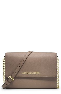 LOVE this! MICHAEL Michael Kors 'Large Jet Set' Saffiano Leather Crossbody Bag | Nordstrom