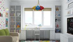 Картинки по запросу рабочая зона для школьника у окна Childrens Room Decor, Boys Room Decor, Kids Room, Bedroom Decor, Play Houses, Girls Bedroom, Bookshelves, House Design, Living Room