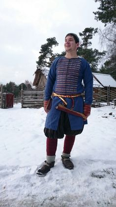 Good looking Erik in Birka viking outfit from bj 1074. Foto: Linda Wåhlander.
