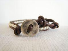Stunning Leather Wrap Bracelet by TrulyAmberJewelry on Etsy, $18.00