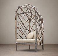 Driftwood Upholstered Chair @ #restorationhardware