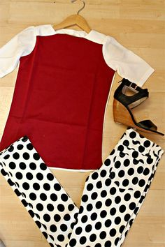 AMARA   Boutique, Polka dots, Sheychelles, Kingdom and state, pants, outfit, fashion, wedges