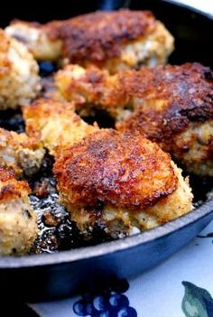 Fabulous Oven-Fried Panko Crusted Chicken (glass or cast iron pan -- DO NOT CROWD!)