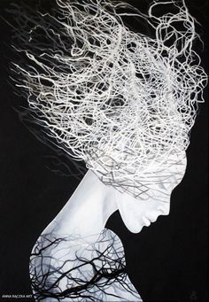 Anna Rączka-Black and white-Nie będziesz-Olej Anna, Black And White, Drawings, Artwork, Polish, Paintings, Artists, Board, Beauty