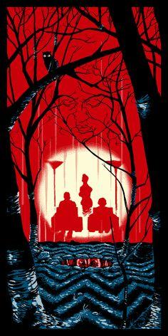 Twin Peaks inspired print