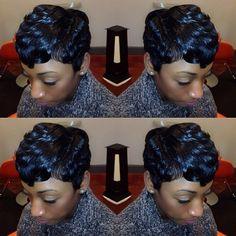 LAID ✂️ via @hairbychantellen | #shorthair #pixie #curls #stunner #thecutlife #Padgram