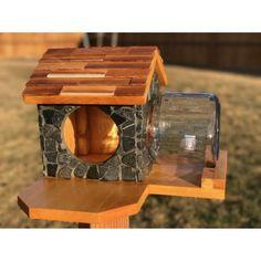 Slate Stone Squirrel Feeder #Feeders #SquirrelFeeders #Nuts - https://boosandbells.com/home/24-slate-stone-squirrel-feeder.html