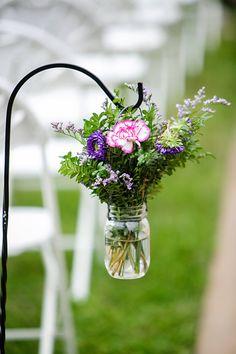 DeMuth-Eggleston Wedding Photo By Visions by Heather Wedding aisle shepherd hook decorations