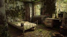 Post apocalyptic room, Sheli Ben Yair on ArtStation at https://www.artstation.com/artwork/Xzq90
