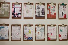 Love this stationery display with clipboards - National Stationery Show 2012
