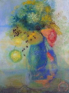 odilon redon flowers | Vase Of Flowers' - Odilon Redon