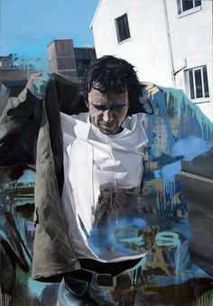 London based artist from Ireland, Connor Harrington acquired his BA Painting in 2002 from the Limerick School of Art and Design. Portraits, Portrait Art, Artist Painting, Figure Painting, Street Artists, Life Drawing, Urban Art, Figurative Art, Amazing Art