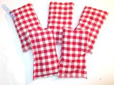 Jolis sachets de lavande au motif vichy rouge : Accessoires de maison par cebad-bretagne