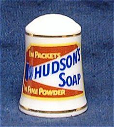 HUDSON'S SOAP THIMBLE FRANKLIN MINT