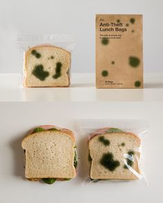Anti-Theft Lunch Bags by Sherwood and Mihoko. 16 Creative Packaging Examples. #packaging
