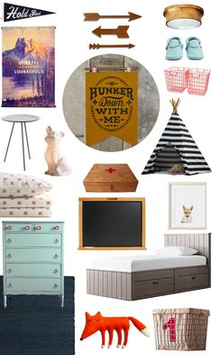 Camp Kid Bedroom Mood Board // A Lovely Lark