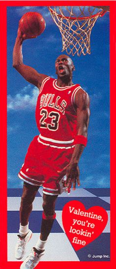 michael jordan valentines day cards
