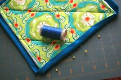 Potholder instructions, including how to do the binding.