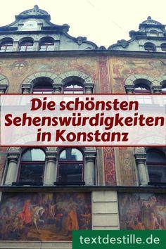 Wenn ihr den Bodensee besucht, solltet ihr euch unbedingt auch Konstanz anschauen, denn in Konstanz gibt es jede Menge Geschichte und Kultur zu entdecken. Ich nehme euch mit auf einen Rundgang durch die Altstadt, zeige euch die schönsten Sehenswürdigkeiten in der Stadt und stelle euch Museen und andere Kultureinrichtungen vor. #textdestille Winter, Travel Destinations, Movie Posters, Movies, Konstanz, Concerts, Winter Time, Road Trip Destinations, Films