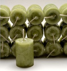 Coventry Creations Blessed Green MONEY DRAW VOTIVE CANDLE Wicca Witch Spells