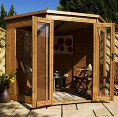Summer House Ideas  European wooden summer house.